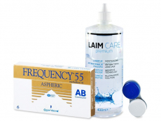 Frequency 55 Aspheric (6 Linsen) +  Laim-Care 400ml