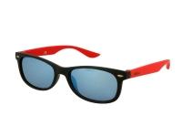 Kontaktlinsen online - Kinder Sonnenbrille Alensa Sport Black Red Mirror