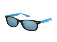 Kontaktlinsen online - Kinder Sonnenbrille Alensa Sport Black Blue Mirror