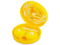 Kontaktlinsen online - Kontaktlinsen-Etui - Ornament gelb