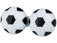 Kontaktlinsen online - Behälter Fußball  - schwarz