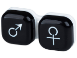 Kontaktlinsen online - Behälter man&woman - schwarz
