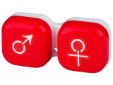 Kontaktlinsen online - Behälter man&woman - rot