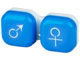 Kontaktlinsen online - Behälter man&woman - blau