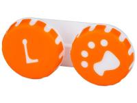 Kontaktlinsen online - Behälter Pfote orange
