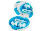 Kontaktlinsen online - Kontaktlinsen-Etui Fußball - blau
