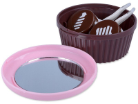 Kontaktlinsen online - Kassette mit Spiegel Muffin - rosa